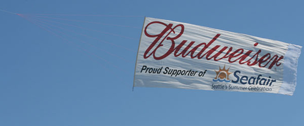 Budweiser Beer, proud supporter of Seafair