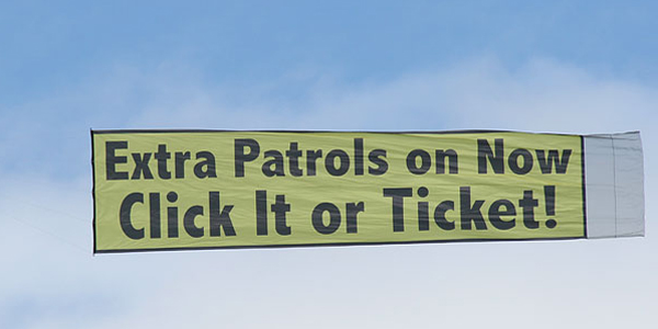 Extra Patrols on Now - Click It or Ticket!
